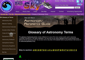 Glossary of Astronomy Terms