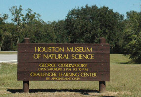 HMNS Sign in Brazos Bend State Park
